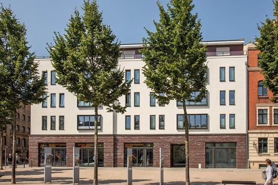Fährzingel Stralsund Westansicht auf Eigentumswohnungen